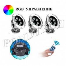 Подводные светильники 925Led3 (RGB) комплект
